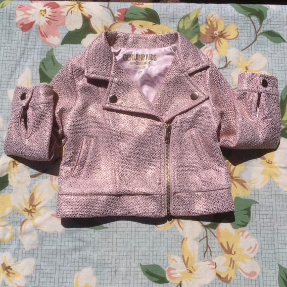 921bb5174 Genuine Kids Pink and Rose Gold Metallic Coat